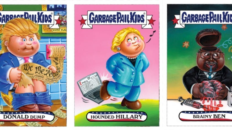You Can Buy These New Iowa Caucus Garbage Pail Kids Cards ...