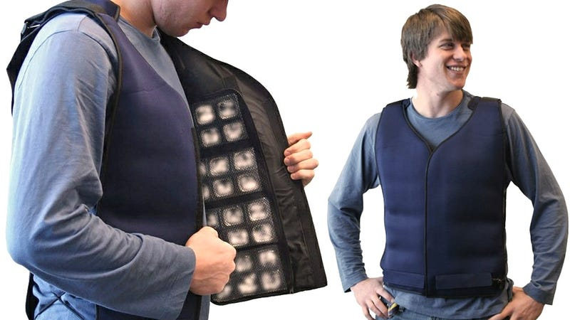 Illustration for article titled Ice Cube Vest Is an Even More Ridiculous Way To Stay Cool at Work