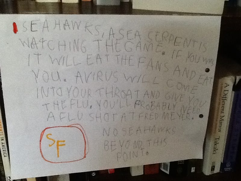 Illustration for article titled Six-Year-Old 49ers Fan Writes Threatening Letter To The Seahawks