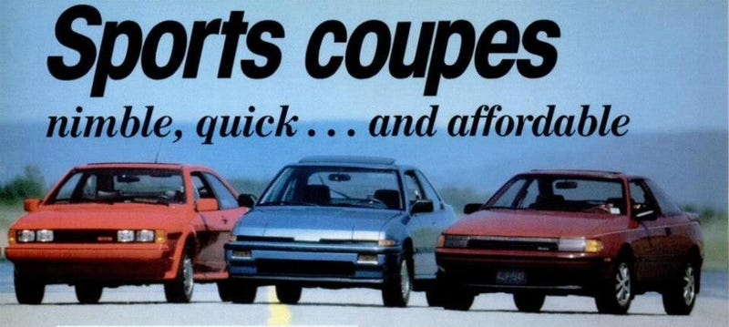 Illustration for article titled Daily-Track-Burn: Cheap Sporting Coupés, 80's Edition