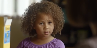 Screenshot from Cheerios commercial featuring interracial family (YouTube)