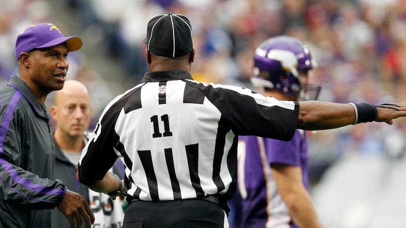 Illustration for article titled The Scab Refs And The NFL Slide Deeper Into Incompetence