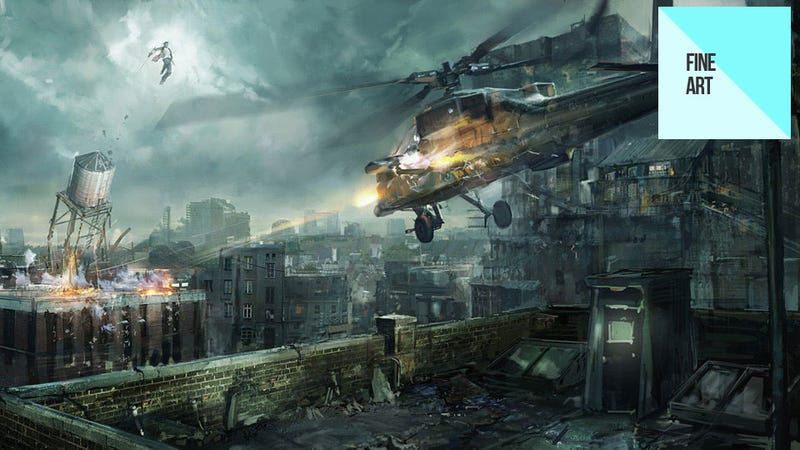 Illustration for article titled The Game May Be Dead, But the Awesome Helicopter-Fighting Art Lives On