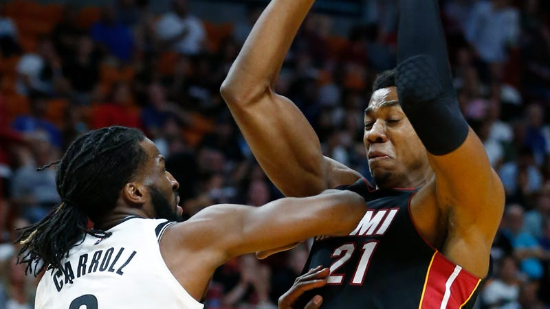 """Illustration for article titled Hassan Whiteside, On The Heat Playing Small Lineups: """"It's Really Bullshit"""""""