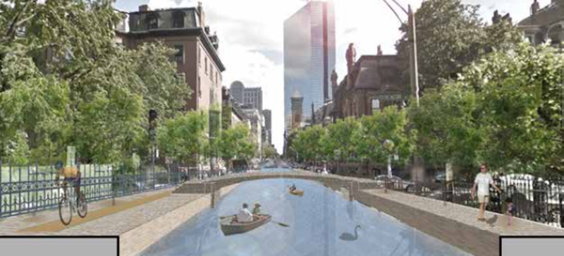 Illustration for article titled Boston's Thinking of Building Canals Like Venice Because Climate Change