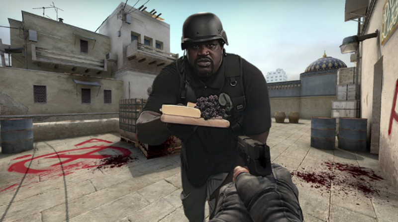 Illustration for article titled Shaq Is Shilling Counter-Strike Now