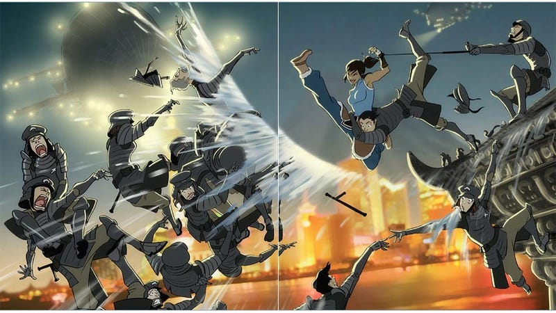 Illustration for article titled See The Legend of Korra Come to Life in This Gorgeous New Art Book
