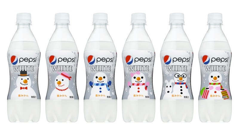 Illustration for article titled This Christmas, Japan Is Dreaming of Pepsi. White Pepsi.
