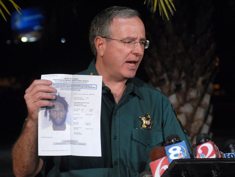 Polk County, Fla., Sheriff Grady Judd during a press conference in 2006 (Phelan M. Ebenhack/AP Images)