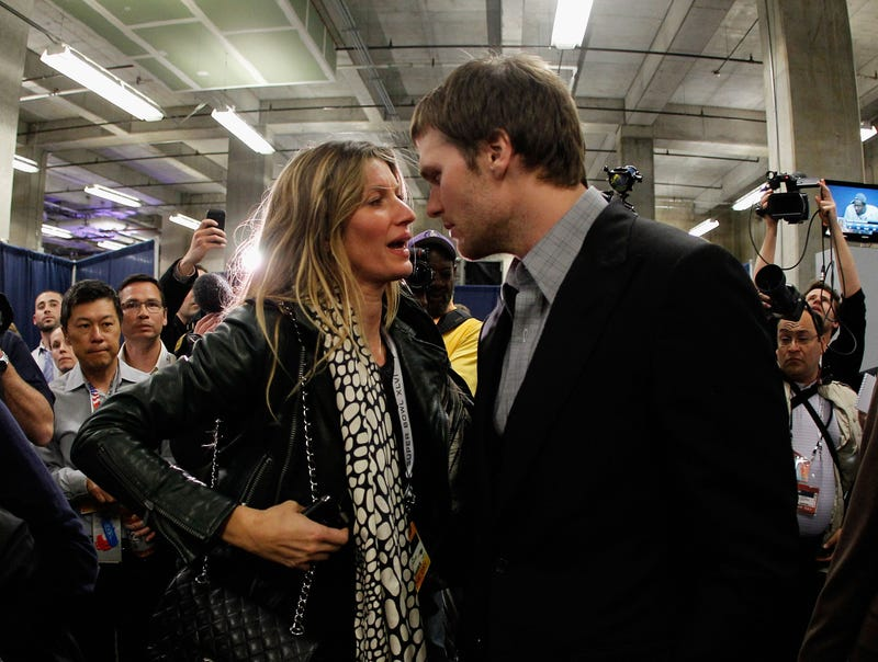 """Illustration for article titled """"My Husband Can Not Fucking Throw The Ball And Catch The Ball At The Same Time"""": Gisele Is Pissed At The Patriots' Dropped Passes"""