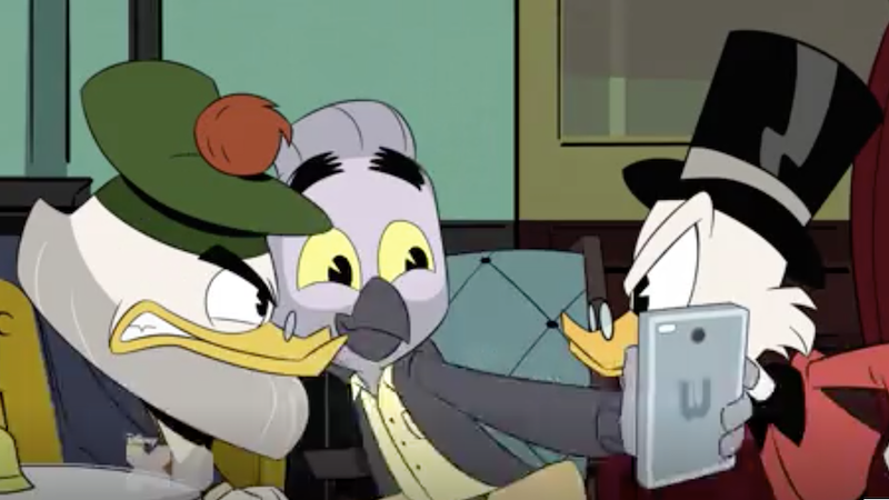 W Ducktales Meet Mark Beaks, DuckT...