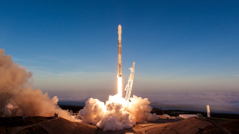 The March 30 launch of a SpaceX Falcon 9 rocket with 10 Iridium satellites onboard.