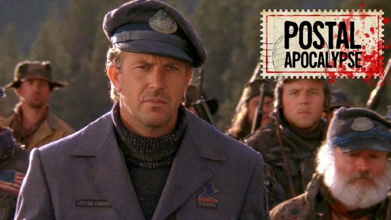 Kevin Costner as the fake post-apocalyptic mailman of The Postman.