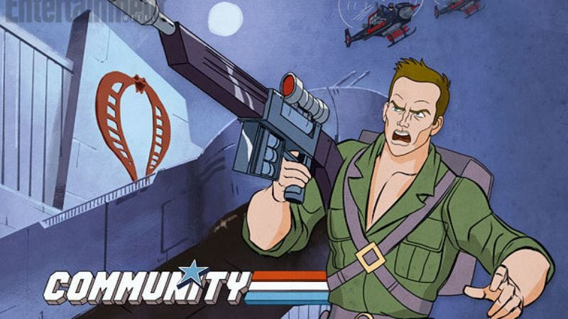 Illustration for article titled Here's what Community's G.I. Joe episode looks like, and now you know