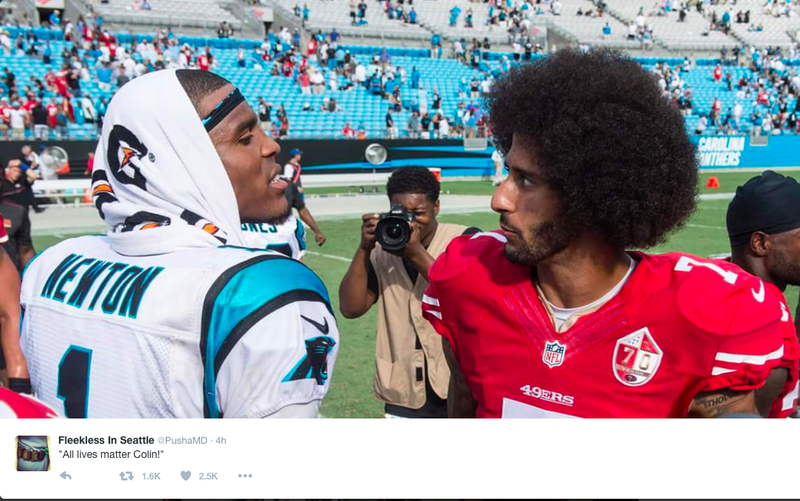 Cam Newton and Colin KaepernickTwitter