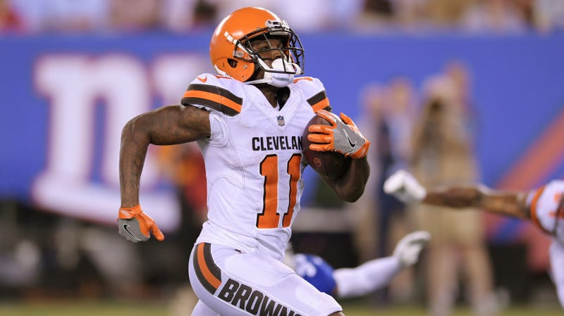 sale retailer bd509 f35e7 Cleveland Browns Punish Antonio Callaway By Making Him Play