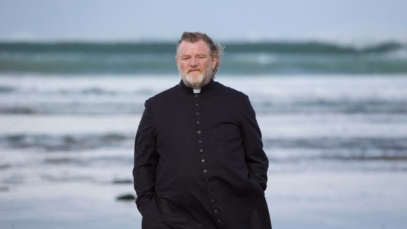 brendan gleeson is a priest on borrowed time in the grimly comic movie review