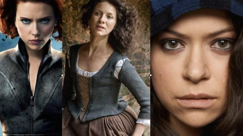 Scarlett Johansson, Caitriona Balfe, Tatiana Maslany (Marvel, Starz, BBC America)