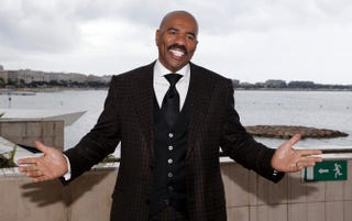 Steve Harvey on April 8, 2013, in Cannes, France, during the MIPTV trade show VALERY HACHE/AFP/Getty Images