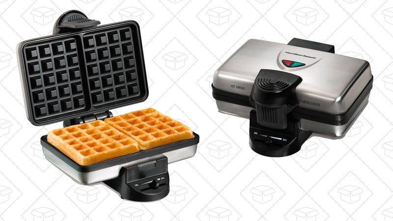 Hamilton Beach Belgian Waffle Maker | $19 | Amazon