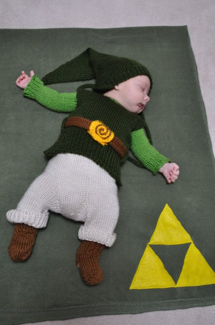 Update This is the same as this Link baby costume. Maker The Happy Seamstress tells Kotaku she was commissioned to do it for this kid. So thatu0027s Cute x2. & Link Baby Costume This Time with Baby
