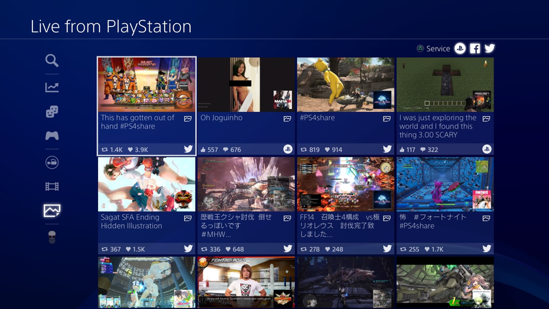 Top screenshots from the PS4's social hub include the occasional lewd pic.