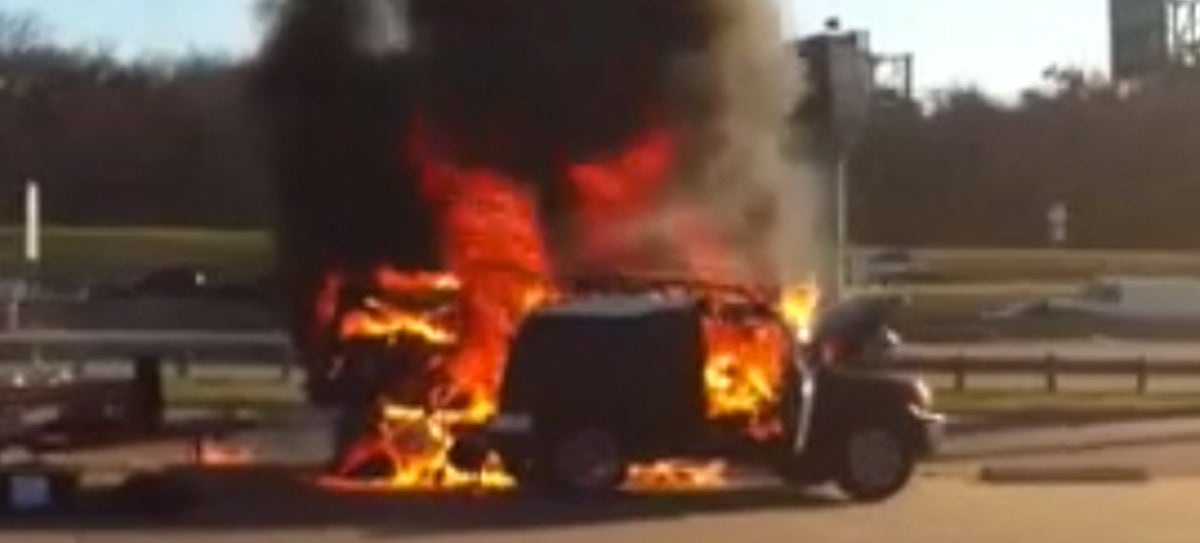 did faulty trailer wiring burn this fj cruiser to the ground twice? 4 pin trailer wiring patrick of dallas, tx had been towing with his 2012 toyota fj cruiser for months, until a run with a rental trailer turned his truck into a ball of fire