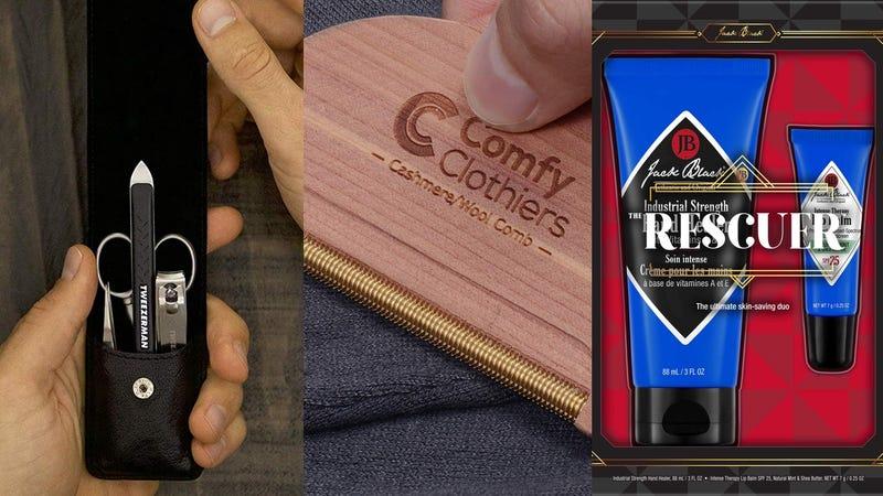 Tweezerman Grooming Kit | Comfy Clothiers Cedar Sweater Comb | Jack Black 'The Rescuer' Set