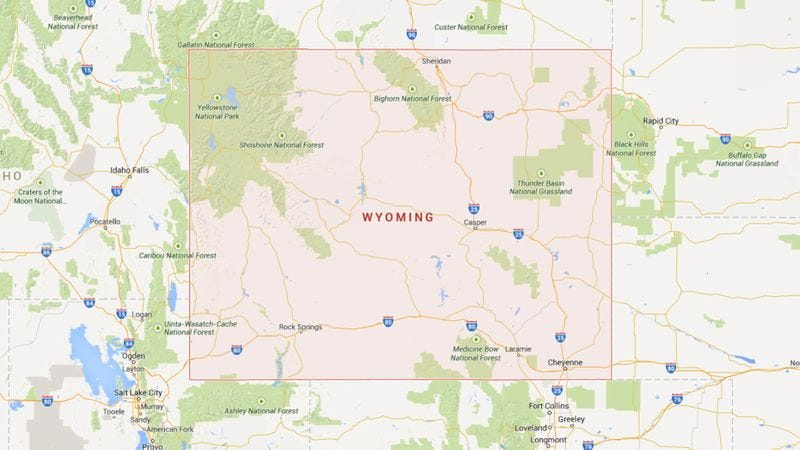 Illustration for article titled Cool! This Map Shows Which States' Residents Say 'Wyoming' The Most