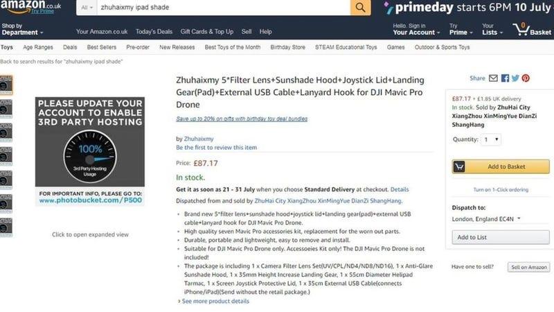 """Illustration for article titled Photobucket sigue adelante con su """"secuestro"""" masivo de imágenes: ahora se están rompiendo fotos en Amazon y en eBay"""