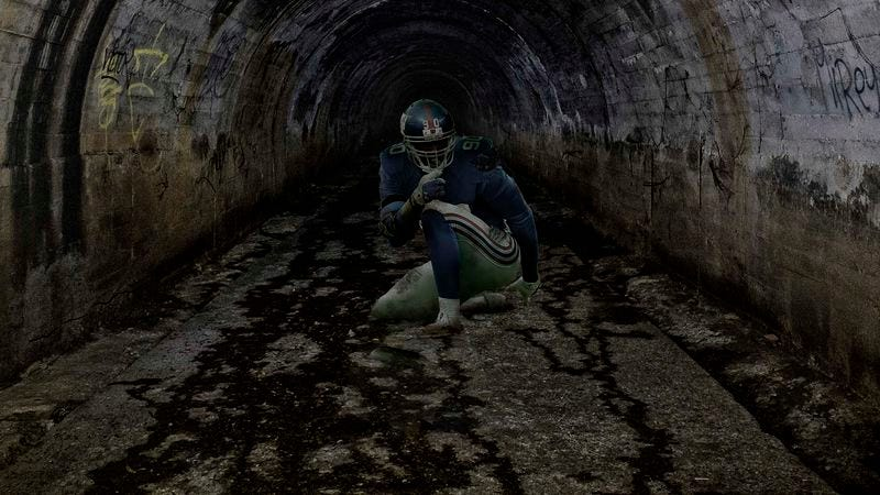 Illustration for article titled Gruesome, Deformed Jason Pierre-Paul Lurking In Sewers Beneath MetLife Stadium