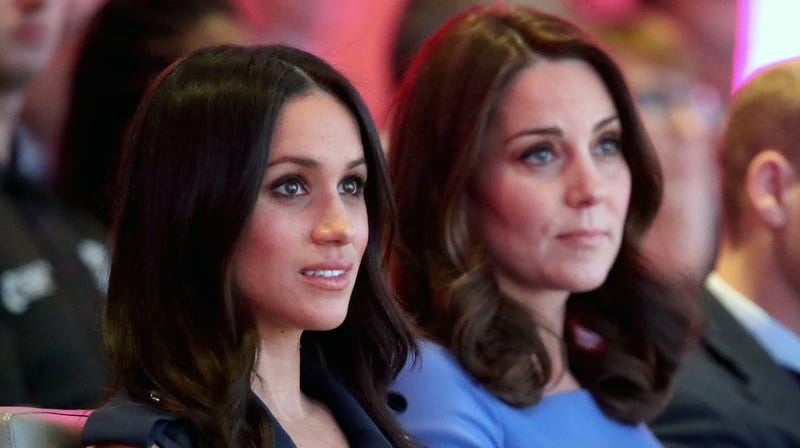 Meghan Markle and Catherine, Duchess of Cambridge attend the first annual Royal Foundation Forum on February 28, 2018 in London, England.