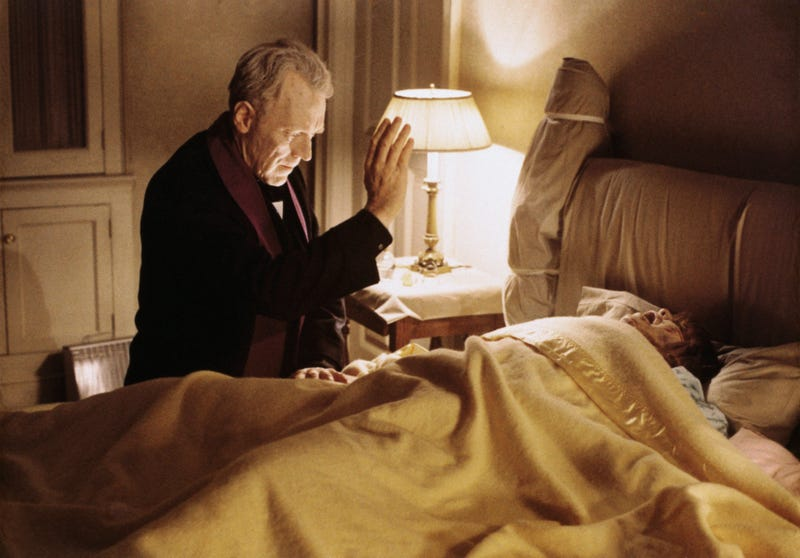 Max Von Sydow and Linda Blair in The Exorcist. (Photo: Bettmann/Getty Images)
