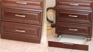 Make a secret toekick drawer for about 30 for Secret drawer kitchens