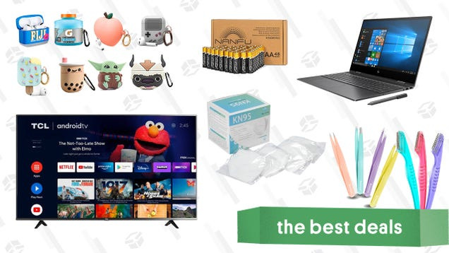Saturday s Best Deals: HP Envy x360 Laptops, TCL 50-inch 4K Smart TV, AirPods Case Covers, 48-pack AA Batteries, KN95 Masks, and More