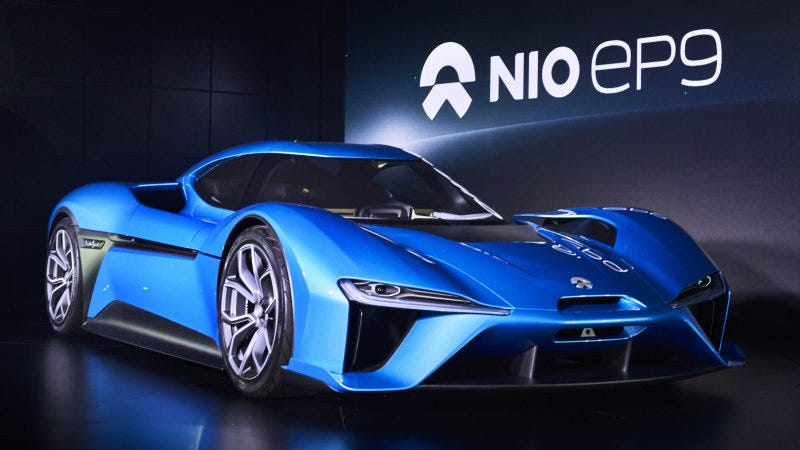 Illustration for article titled NextEV's NIO EP9 is Going Full-Viper ACR on Tracks