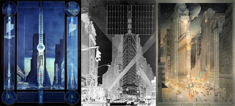 Illustration for article titled 9 Failed Designs That Would Have Changed Times Square Forever