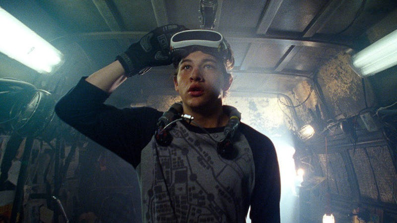 Wade Watts (Tye Sheridan) meditates on the nature of hatred and externalization of fear... or he just wants Carl's Jr.