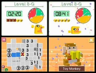 Illustration for article titled Picross 3D Review: Block The Monkey