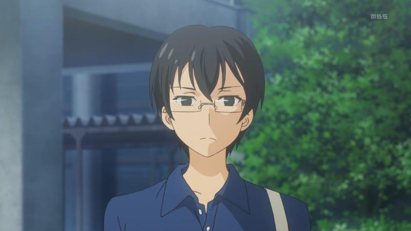 Image result for anime guy glasses glare