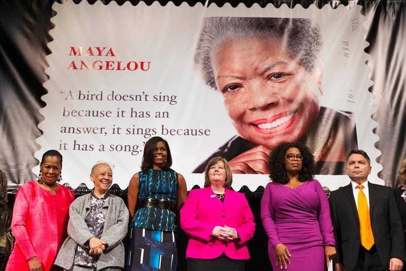 Illustration for article titled New stamp features fake quote from Maya Angelou