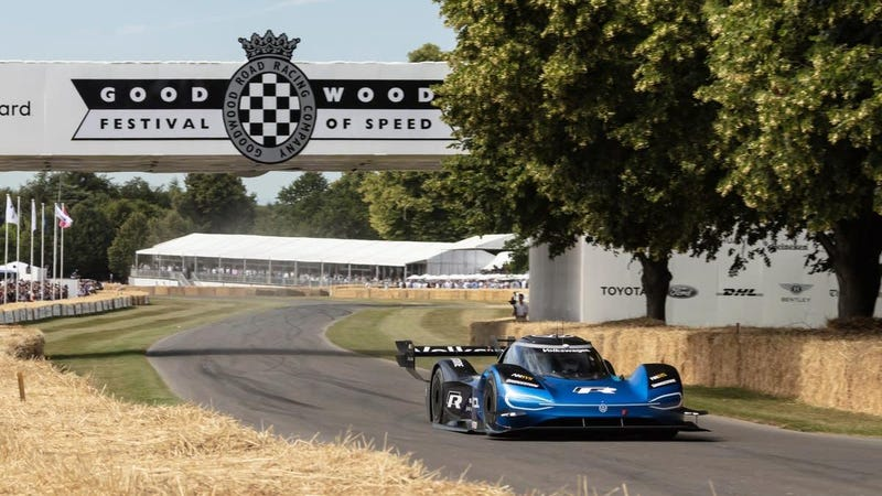 Volkswagen's All-Electric Prototype Officially Annihilated the Goodwood Hill Climb Record
