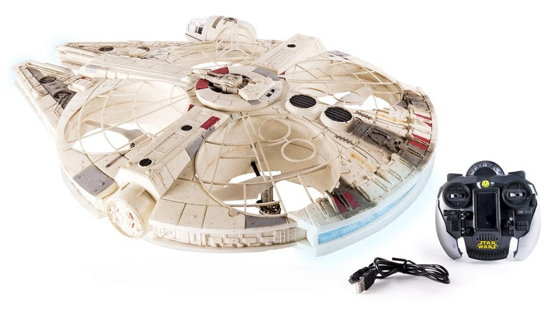 Air Hogs' Massive Millennium Falcon Drone Even Has a Tiny Han Solo and Chewie in the Cockpit