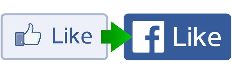 Illustration for article titled Facebook cambia por primera vez el diseño de su botón 'Me gusta'