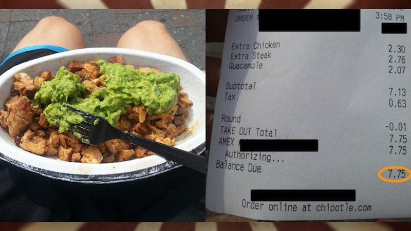How can you get the current price menu for Chipotle?