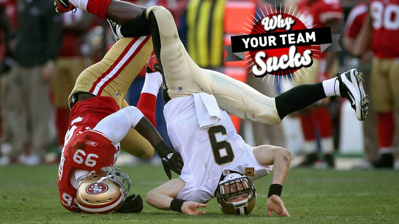Illustration for article titled Why Your Team Sucks 2013: New Orleans Saints