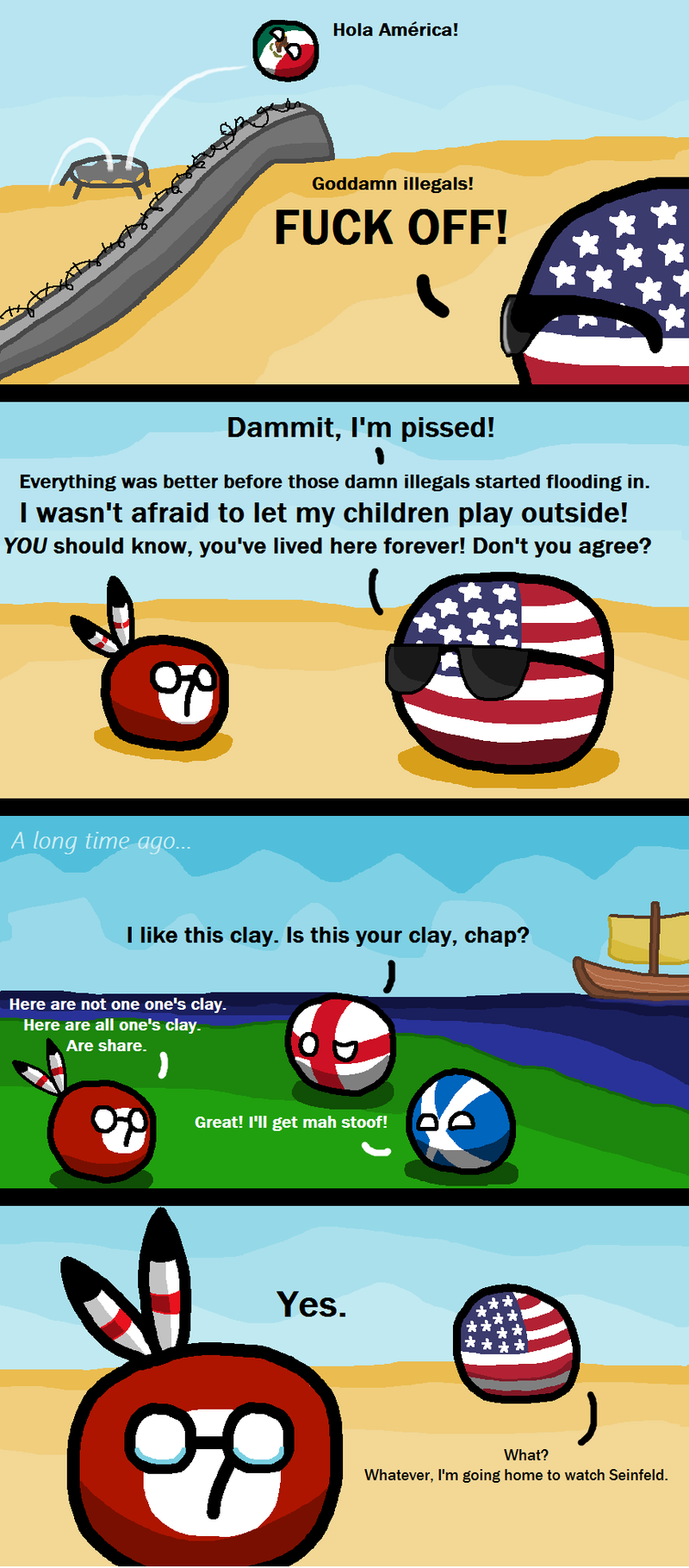 Illustration for article titled Daily Polandball: Immigrants.