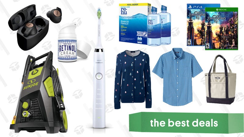 Illustration for article titled Monday's Best Deals: Kingdom Hearts III, J.Crew, Sonicare Toothbrushes, Soylent, and More