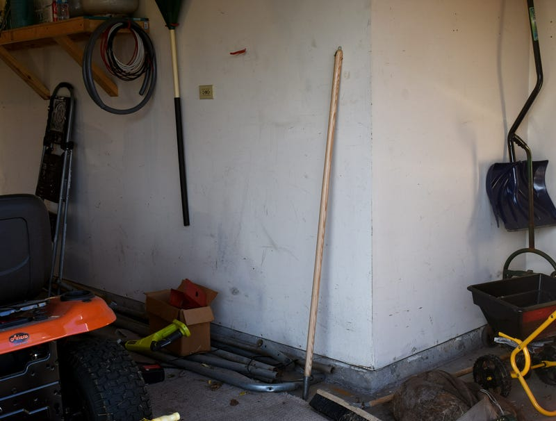 Illustration for article titled Unidentified Wooden Pole Leaning Against Garage Wall