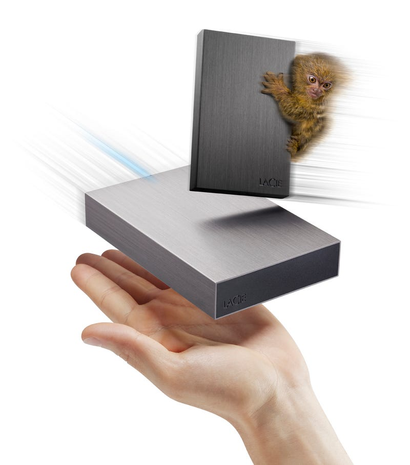Illustration for article titled USB 3.0 Hard Drives So Fast and Small That Even a Monkey Wants Them